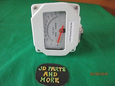 New Ugsi Chemical Feed Flow Meter Gauge Assembly 5520m02208 0-5.0 Gpm