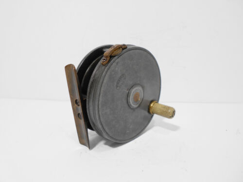 """Vintage Antique Dingley Perfect Pattern 3"""" Fly Fishing Reel - Retaining Well"""