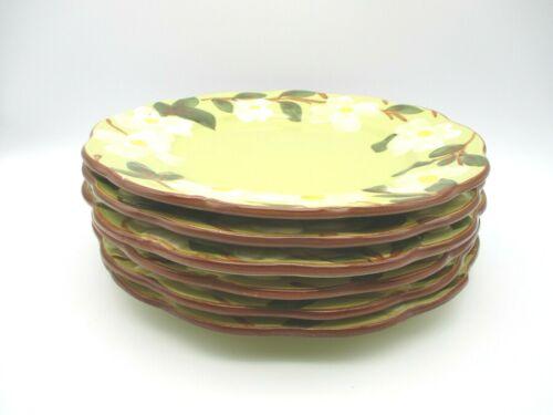 Stangl Pottery White Dogwood (Set of 5) Dinner Plates 10 inch USA NJ