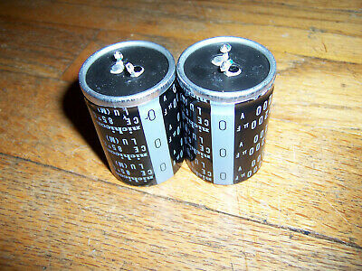 Pair Of Nichicon Snap-on Electrolytic Capacitors 2200uf 2200 Uf 200v