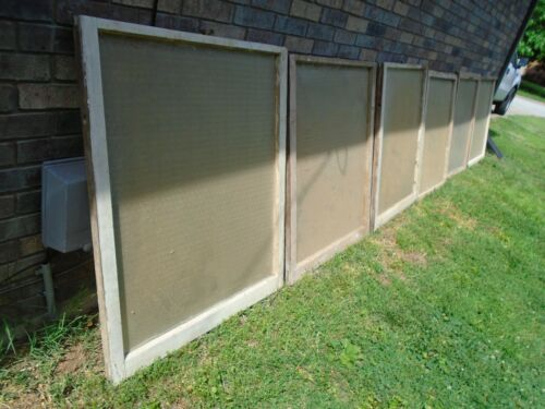 4 LARGE Maze, Mystic, Florentine Privacy Glass SASH WINDOW Vintage Arch Salvage