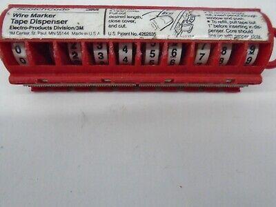3m Scotchcode Std-0-9 Wire Marker Tape Dispenser With Tape