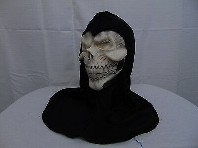 Boy's Crypt Master Reaper Halloween Costume Accessories Mask & Hood #1365 ()