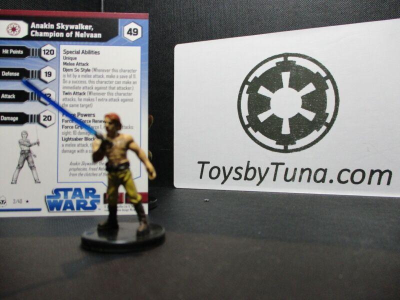Star Wars Miniatures Anakin Skywalker, Champions of Nelvaan CW w/ Card mini RPG