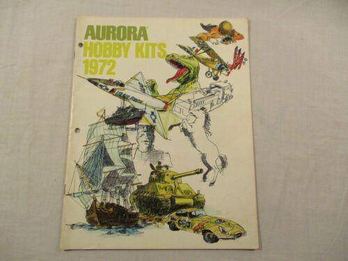 Aurora Hobby Kits 1972 Catalog Color Images Glow Movie Monsters Prehistorc Scene