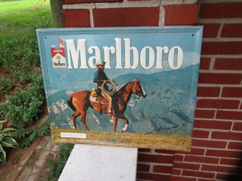 VINTAGE MARLBORO TIN METAL SIGN TOBACCO CIGARETTE ADVERTISING PHILLIP MORRIS