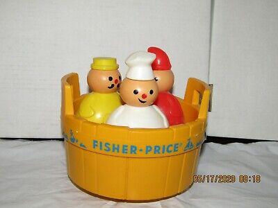 Fisher Price Three Men in a Tub and 1974 Daredevil White Airplane