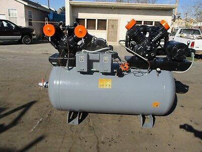 Speedaire Duplex Air Compressor 2 10hp72cfm Cast Iron Series 5z405c