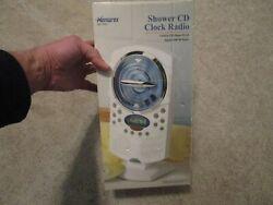 BRAND NEW MEMOREX SHOWER CD CLOCK RADIO MC1008