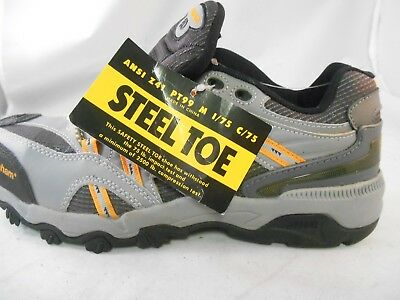 Dunham by New Balance Gray Black Orange Work Shoes w/ Steel Toe Men's Sz 10 M ()