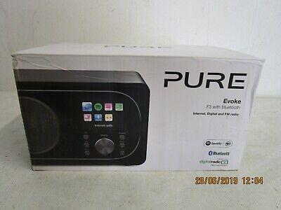PURE Evoke F3 Internetradio Digital-und UKW Radio mit Bluetooth Schwarz