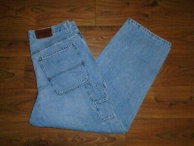 NICE Tommy Hilfiger Loose Fit 100% Cotton Denim Carpenter Jeans ACTUAL 38X31