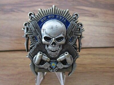 NYPD New York Detectives See No Evil Skull Challenge Coin #7914