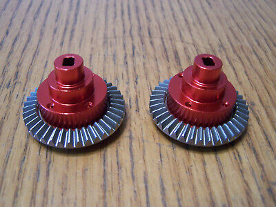 (2- Aluminum Connect Box Red 38T Main Gear Diff Redcat Everest-10 Gen7 Pro 180009)