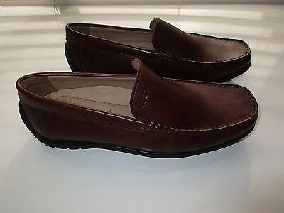 ECCO 59043 Full Grain Leather Slip-On Men's Loafer Shoes Burnish Brown 9.5E 10M