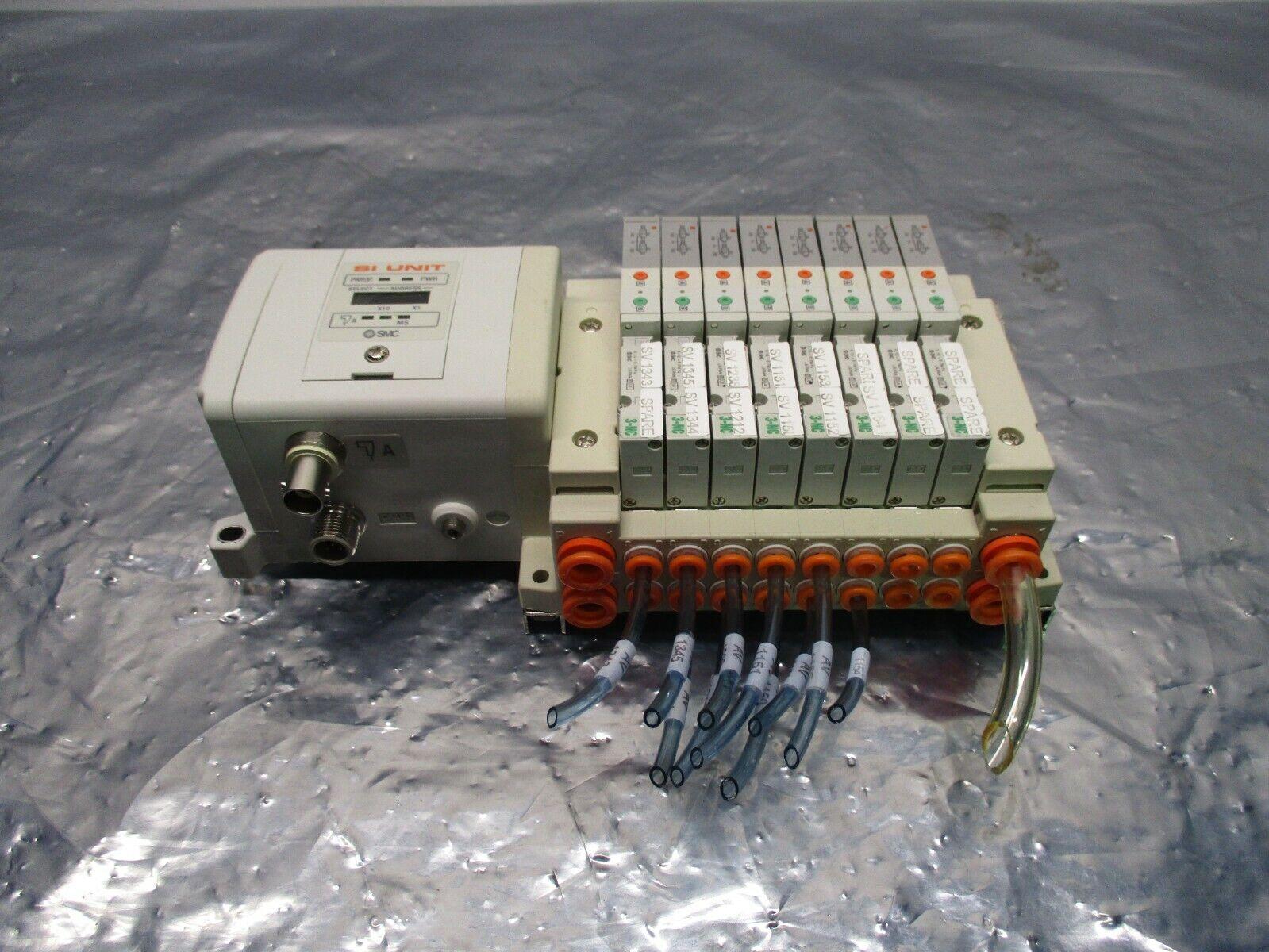 SMC SS5V1-GCJ09 8 Valve Manifold Assy w/ EX250-SCN1 Serial Interface Unit,100874