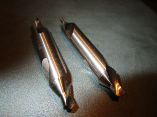 (2) #5 Bright HSS 60° 2 Flute Combined Drill Bit and Countersink