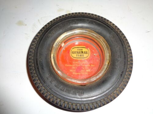 Vintage General Tire  Yingling Westminster, Md. Rubber Tire Ashtray