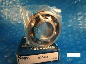 KOYO 6204 C3, Deep Groove Roller Bearing (=2 SKF,NTN, NSK,FAG, Fafnir 204K)