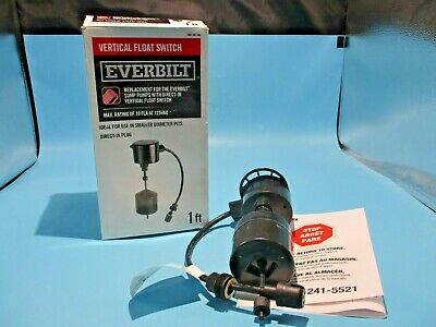 New Everbilt Svfs10d1801bc Vertical Float Switch 1ft 115v Sump Pumps