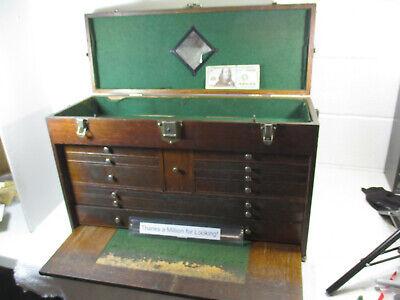 Gerstner 11 Drawer Wood Tool Machinist Chest Box Vintage 052 449 26 Long