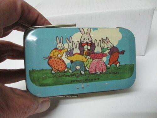 Vintage  Tindeco Easter Tin Litho Box - PETER RABBIT