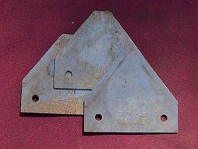 3 Vintage Osborne Sickle Bar Mower Blades