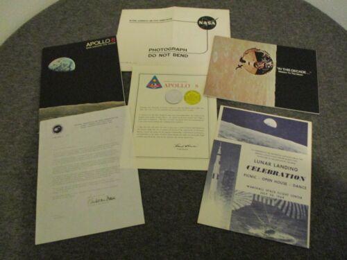 1969 NASA MSFC APOLLO 11 LUNAR LANDING COMPLETE CELEBRATION KIT APOLLO 8 COIN BK