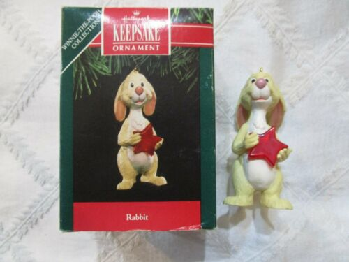 "HALLMARK DISNEY CHRISTMAS! ORNAMENT WINNIE THE POOH ""RABBIT"" T3119"