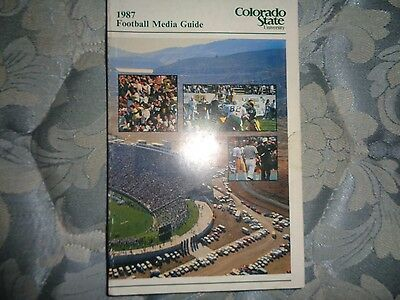 1987 COLORADO STATE RAMS FOOTBALL MEDIA GUIDE College University Yearbook WAC AD