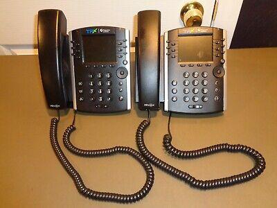Lot Of 2 - Polycom Vvx 411 Ip Gigabit Phone 2201-48450-001 Vvx411 Poe Desktop