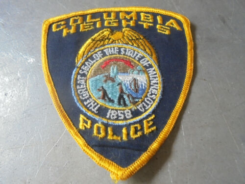 Vintage Columbia Heights Police Patch Minnesota