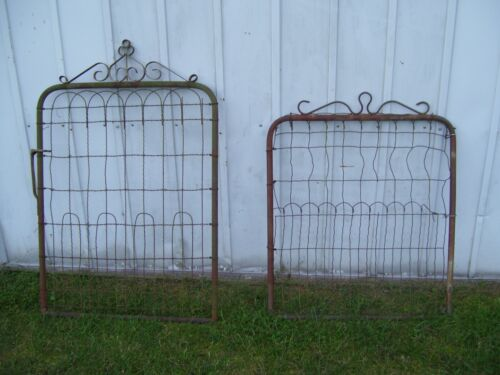 Lot of TWO VINTAGE GARDEN METAL TUBE AND WIRE GATES  LOCAL PICKUP ONLY
