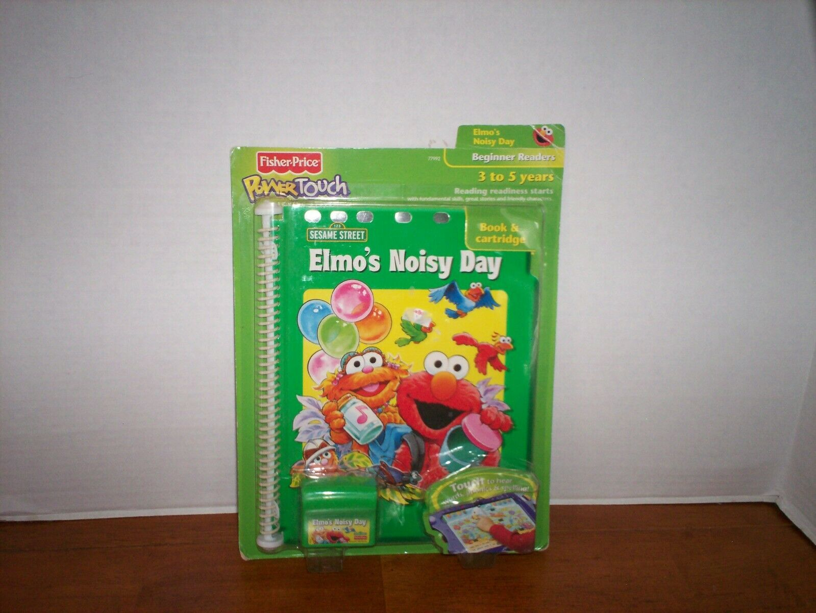 Fisher Price Elmo's Noisy Day Power Touch Book and Cartrid