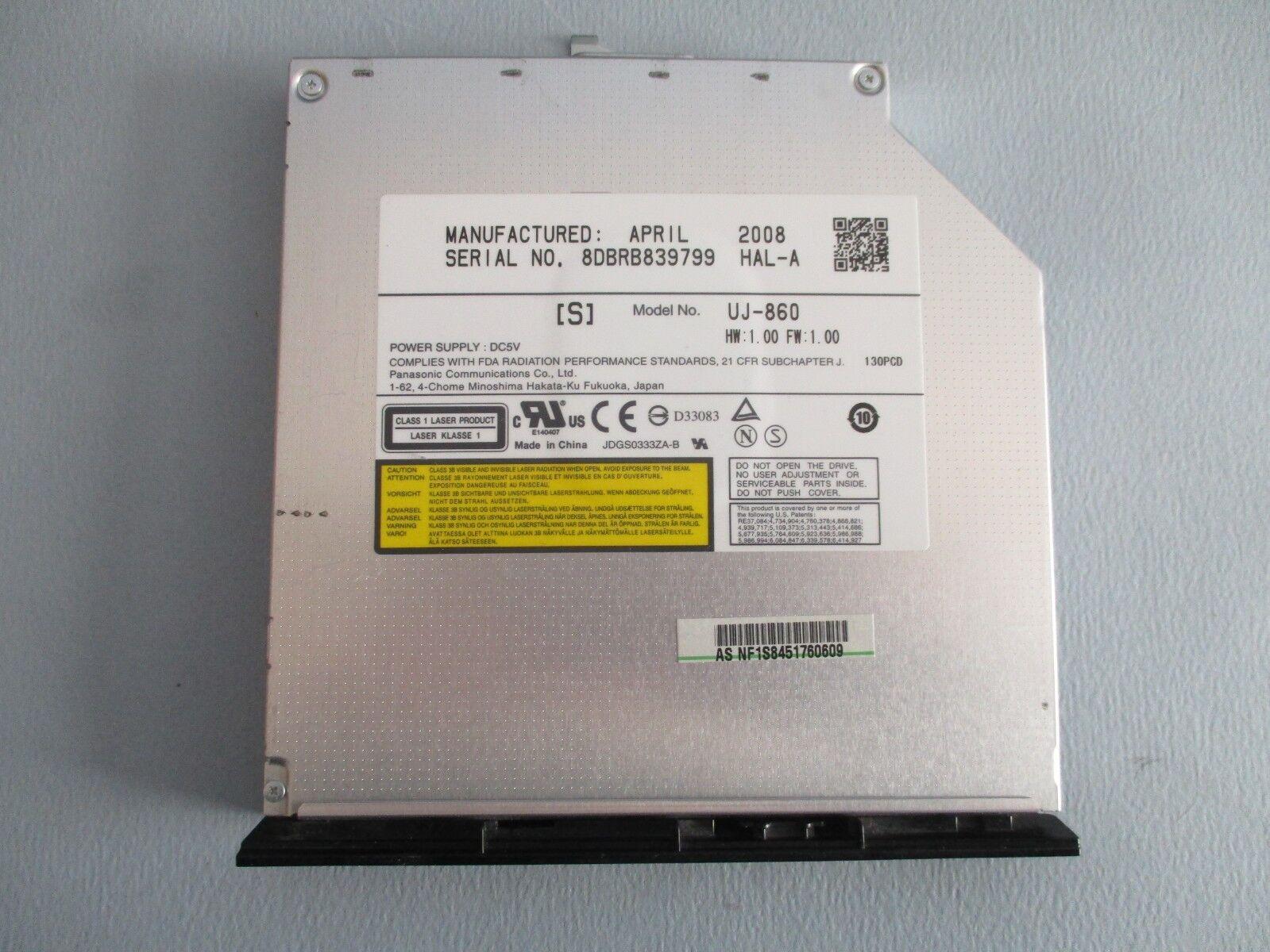 Lecteur cd-dvd pour asus /uj-860/ pour pc portable etat comme neuf