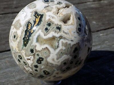 AAA OCEAN JASPER SPHERE MARBLE 110MM OR 4 3/8''   7116