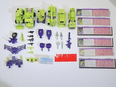 Transformers G1 CONSTRUCTICONS COMPLETE SET DEVASTATOR + cards 1985