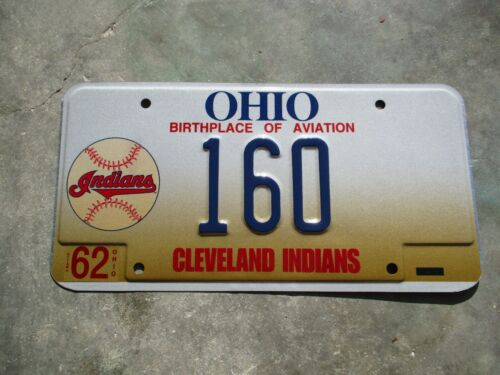 Ohio Cleveland Indians license plate #  160