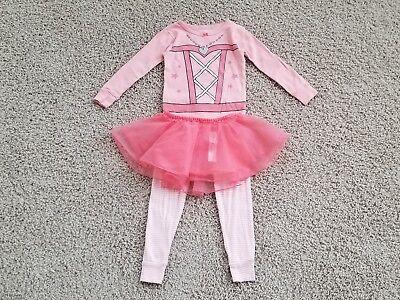 CARTERS Girls COWGIRL 3-PIECE TUTU PAJAMAS Holiday PINK PJ Costume TODDLER 3/3T](Tutu Pajamas)