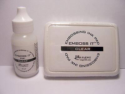 Ranger CLEAR EMBOSSING INK Stamp Pad & Re-Inker Refill Use w/ Embossing - Embossing Ink Refill