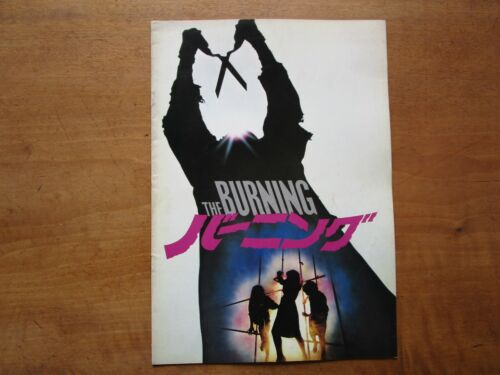"Film ""The Burning"" Tony Maylam Brian Matthews Movie Program Japanese ver F/S"