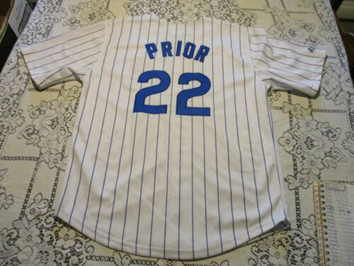 CHICAGO CUBS MARK PRIOR #22 MAJESTIC BRAND FULLY SEWN JERSEY- YOUTH LARGE 14/16