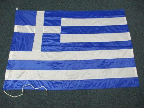 "Vintage Merchant Marine Flag of  Greece   30"" by 46"""