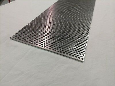 14 Hole 12 X 12 Perforated Aluminum Sheet 18 Thick  38 Stagger