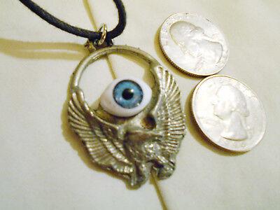 bling pewter BIKER bald eagle bird animal FASHION pendant charm necklace JEWELRY