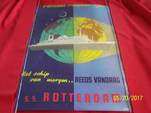 HOLLAND AMERIKA LIJN S.S.ROTTERDAM  Het schip van morgen - VINTAGETRAVEL POSTER