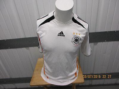 VINTAGE ADIDAS GERMANY NATIONAL FOOTBALL TEAM MEDIUM SEWN WHITE JERSEY 2005 KIT image