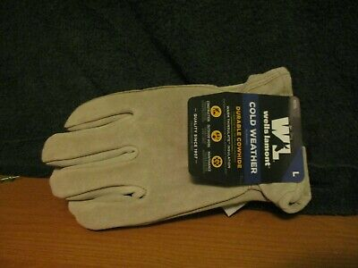 Wells Lamont Leather Gloves Large Save 50 On 2nd Pair Cowhide Gloves 1072l