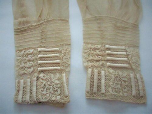 STUNNING,ANTIQUE,VICTORIAN,lace,SLEEVES,scrap,IN BEAUTIFUL CONDITION,UNIQUE!  #1
