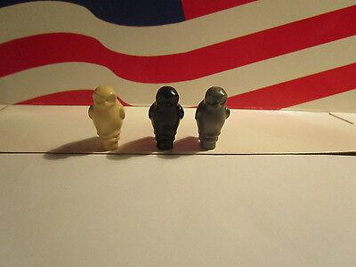 ASTLE,HALLOWEEN (3) OWLS BLACK, TAN & DARK GRAY ANIMAL  (Lego Halloween Castle)